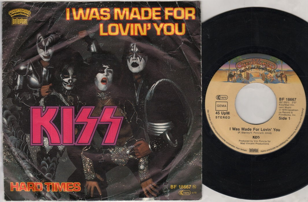 kiss i was made for lovin you records lps vinyl and cds. Black Bedroom Furniture Sets. Home Design Ideas